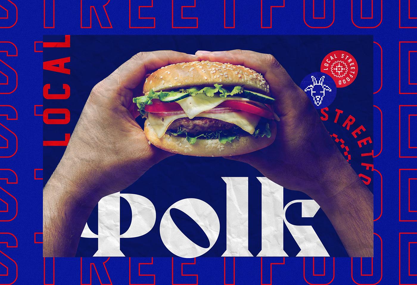 Folk local street food cafe restaurant branding by iFrame Design Studio