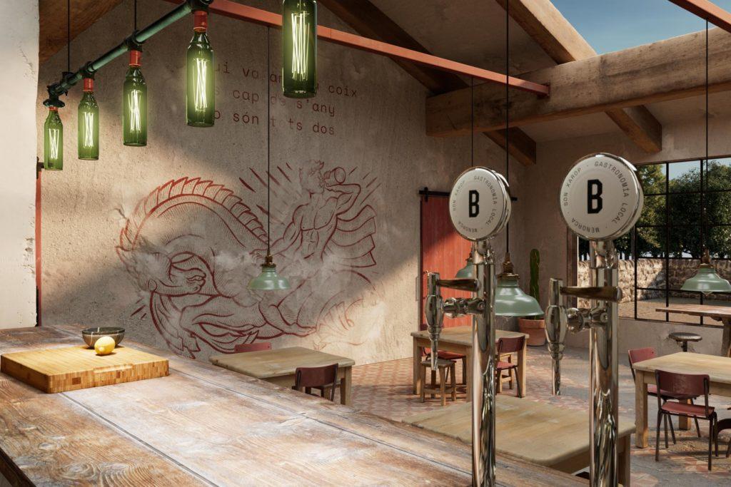 Burdell full service restaurant branding by Brutal Agency