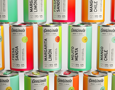 Centinela ready to drink spirits branding and packaging design by Human